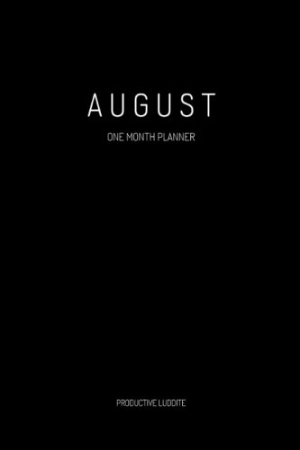August: One Month Planner PDF