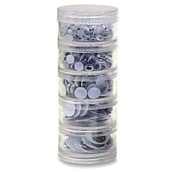 Chenille Kraft Wiggle Eyes Stackable Jar Assortment, Jar of - Chenille Kraft Eyes Wiggle