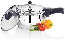 Premier Stainless Steel Handi Pressure Cooker 3.0 L (With Glass Lid,One Free Gasket & One Valve) - 3 Liters