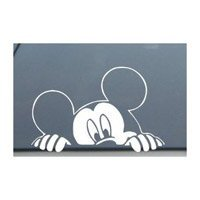 Disney Family Window Decal - Mickey Mouse Disney Peeking Looking Car Window Decal Sticker -SM0008- 4