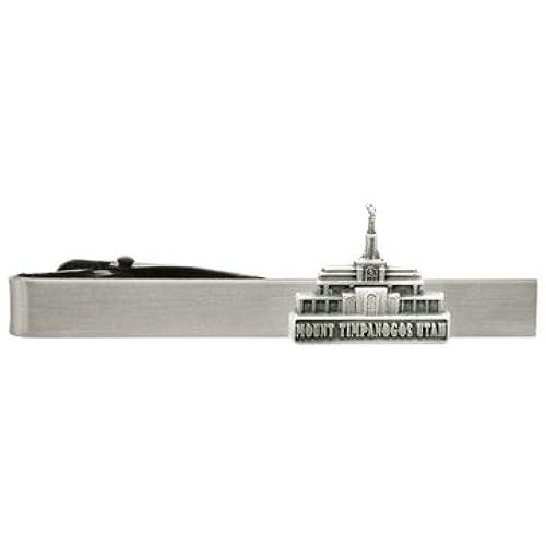 LDS Mount Timpanogos Utah Temple Silver Steel Tie Bar - Tie Clip - Priesthood Gift, LDS Missionary, Tie Clip