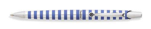 Franklin Covey Nantucket Polished Aluminum Black Radial Pattern Ballpoint Pen