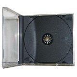 Black Tray Clear Box Assembled 10.4mm Single Jewel Case (100 Pieces)