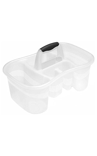 Sterilite Bath Caddy with 5 Compartments, Large, (Bathroom Tote)