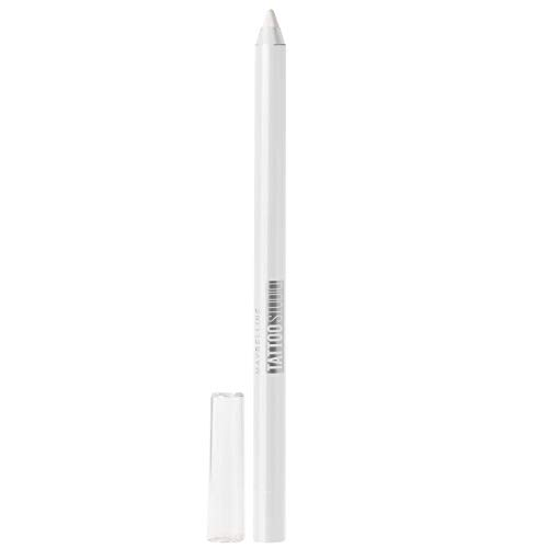 Maybelline New York Tattoostudio Waterproof, Long Wearing, Eyeliner Pencil Makeup, Polished White, 0.04 Ounce (Black And White Tattoos With Pops Of Color)