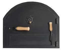 Porta di ferro per forno a legna con sistema anti fumo: amazon.it