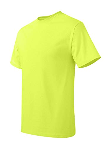 Hanes Mens Tagless T Shirt (Safety Green, Medium) ()