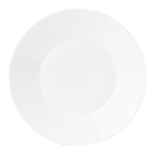 "Jasper Conran by Wedgwood White Bone China Salad Plate Plain 9"""