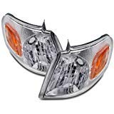 Chevy Venture Headlight - Headlights Depot Replacement for Venture/TransSport/Silhouette/Montana New Corner Lights Set