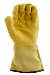 Stauffer Goatskin MIG/TIG Welders Gloves with Leather Gauntlet Cuff, Extra Large, (Pack of 12) by Stauffer Glove & Safety (Image #2)