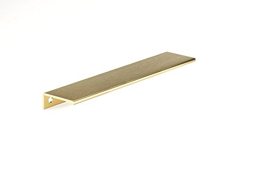 (Richelieu Hardware - BP9898192166 - Contemporary Aluminum Edge Pull - 9898 - 7 9/16 in (192 mm) - Satin Gold  Finish)