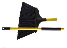 Milwaukee Dustless Brush 403120 15 In. Jumbo Angle Warehouse Broom With 48 In. Grip Handle, Case Of 12 by Gordon Brush