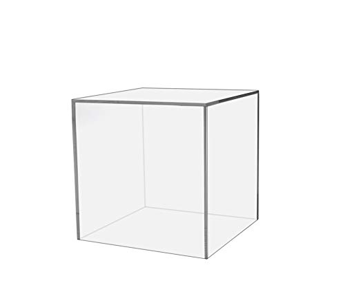 Marketing Holders Show Case 5 Sided Cube Retail Riser Advertisement Display Art Pedestal Museums Wedding Receptions Venues Jewelry Display (1, 8 Inch)