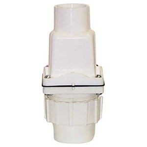 Dual-check Valve, 1-1/2 In, Socket, PVC from Zoeller