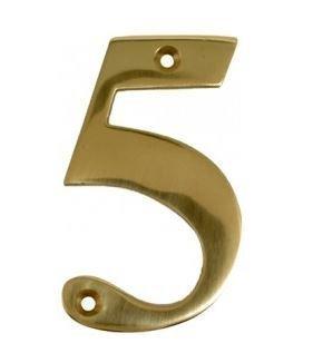 House Door Numerals Numbers - Number 5 - in Polished Brass - Gold - All Door  sc 1 st  Amazon UK & House Door Numerals Numbers - Number 5 - in Polished Brass - Gold ...