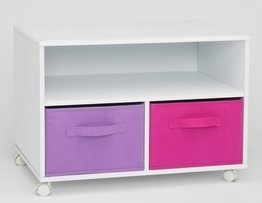 4D Concepts Girl's TV Cart, White