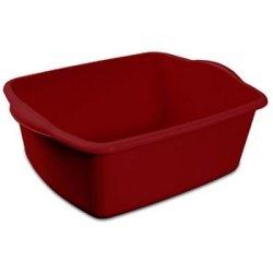 "12 Quart Sterlite Red Dishpan Basin, Multi-purpose, 15 3/4"" x 12 1/2 "" x 6"""
