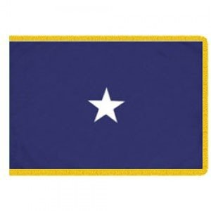 Durawavez U.S. Navy 1-Star Commodore Indoor Outdoor Appliqued Nylon Flag Lined Pole Hem and 2