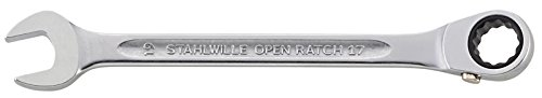 Stahlwille 435QR QuickRelease Safety Lock Ratchet with 2 Component Handle, 3/8'' Drive, 29mm Width, 17.9mm Thickness, 193mm Length