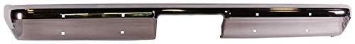 Rear Bumper w/o Impact Strip Holes - Chrome - 81-87 Chevy GMC Fleetside Truck; 81-91 Blazer Jimmy Suburban