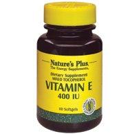 Nature's Plus - Mixed Tocopherol E 400 Iu Softgels 60 - Natures Plus Mixed Tocopherol