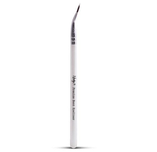 Bent Eyeliner (Nanshy Precise Ultra Fine Thin Tip Bent Eyeliner Makeup Brush for Applying Gel Cream Liquid Eye Liner)