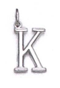 "Blanc 14 carats 11 K Pendentif initiale/16 ""- JewelryWeb"