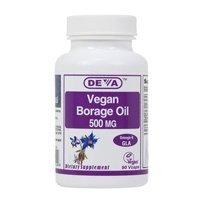 DEVA VEGAN VITAMINS BORAGE OIL,500MG,VEGAN, 90 VCAP by Deva Vegan Vitamins Deva Vegan Borage Oil