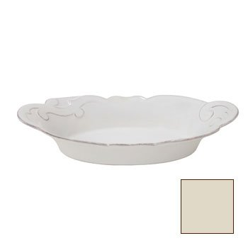 Casafina Arabesque Oval Gratin (Large) - Cream