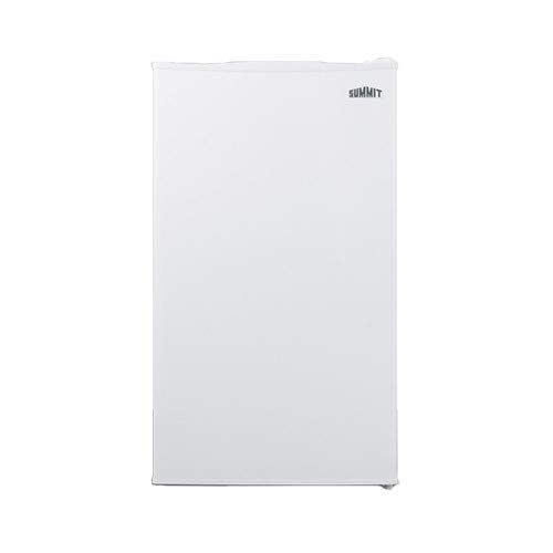 CM406W Counter Height Refrigerator-Freezer with 2.93 cu. ft. Capacity Manual Defrost Glass Shelves and Door Storage in white