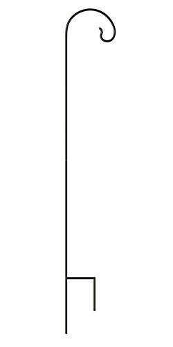 Panacea Black Classic Shepherd Hook, 6'H