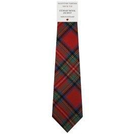 Mens Tie All Wool Made in Scotland Stewart Royal Ancient Tartan (Stewart Tie Tartan)