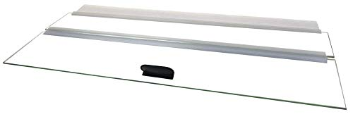 H2Pro 48x18 Glass Canopy 2 Piece Set for 70/75/90/110 Gallon Aquarium Fish Tank (22.68 x 16.93 x 0.16in) by H2Pro