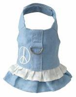 Doggles Harness Dress - Hemp Small Blue with (Hemp Harness Dress)