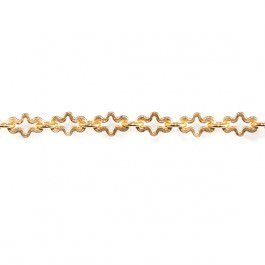 3mm 22kt Gold plated Fancy Cross Chain by the Foot