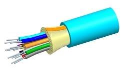 P-006-DS-5L-FSUAQ: Systimax 6-Fiber Tight-Buffered Plenum Distribution Cable, 50 μm, OM3, Aqua Jacket