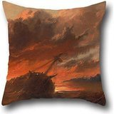 Pillow Shams Of Oil Painting Francis Danby - Shipwreck,for Festival,father,living Room,floor,saloon,home 18 X 18 Inch / 45 By 45 Cm(two Sides) ()