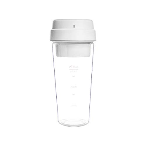 17Pin Star Fruit Cup Small Portable Blender Juicer Mixer Food Processor 400Ml Magnetic Charging 30 Seconds Of Quick Juice,White