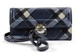 Marc By Marc Jacobs Top Schooly Plaid Grace Crossbody Wallet,Skipper Blue Multi