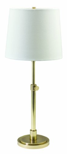 Raw Brass Table Lamp - House Of Troy TH750-RB Town House Collection Portable Table Lamp, Raw Brass with Off-White Linen Hardback Shade