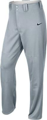 Nike Men's Longball Baseball Pant, Blue Grey/Team Black, SM X 32