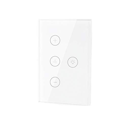 Winner666 2019 Smart WiFi Fan Light Switch, in-Wall Ceiling Fan Lamp Switch US (White)