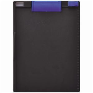 生活日用品 (まとめ買い) クリップボード A4タテ 青×ダークグレー CB-307-BG 1枚 【×15セット】 B074JQPDF5