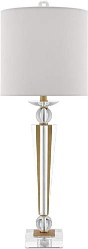 Currey & Company Table Lamp REB Square Base 1-Light Off-White Brushe ()