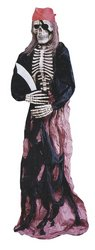 Skeleton Pirate Halloween Prop Decoration - Stands 6 Feet Tall