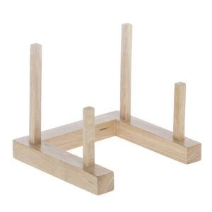 Wood Plate Rack, Single Slot by Retail Resource