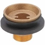 Urinal Spud, 1 1/4 x 3/4 In, Brass/Rubber by Approved Vendor