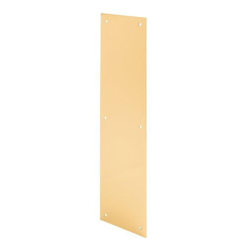 Prime-Line Products J 4630 Door Push Plate, 4-Inch x 16-Inch, Bright Brass