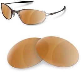 sunglasses restorer Kompatibel Wechselgl/äser f/ür A Wire 1.0 Polarized Brown Gl/äser