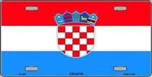 15 x 30 cm SIGNCHAT Placa de matr/ícula de la Bandera de Croacia